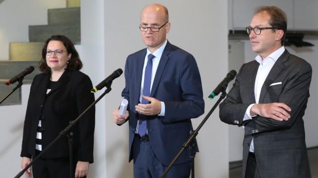 Diesel-Fahrverbote - Partei- und Fraktionsspitzen nach dem Koalitionsgipfel