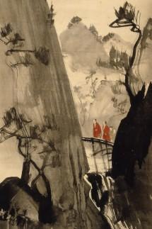 Rosetsu Nagasawa: Scholars Crossing a Bridge
