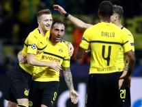 BVB-Spieler bejubeln ein Tor in der Champions League gegen den AS Monaco