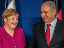 Merkel besucht Israel - Pressekonferenz