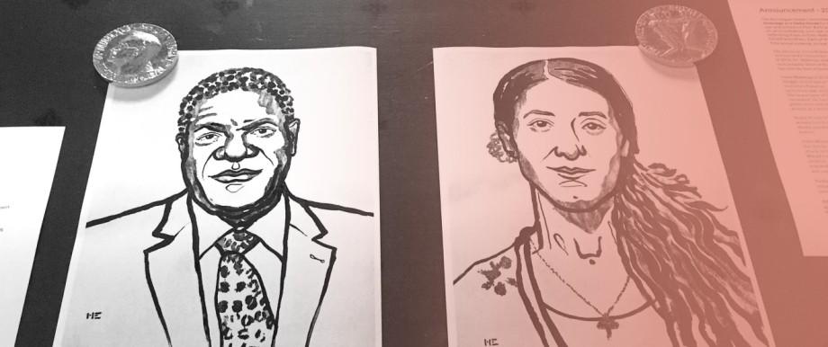Friedensnobelpreisträger Denis Mukwege und Nadia Murad