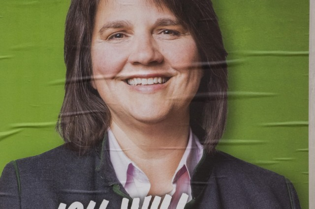 Landkreis München, Wahlplakate zur Landtagswahl, Haar, Claudia Köhler,