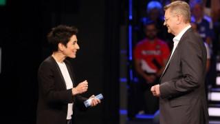 DUNJA HAYALI REINHARD GRINDEL DAS AKTUELLE SPORTSTUDIO ZDF MAINZ PUBLICATIONxNOTxINxUSA