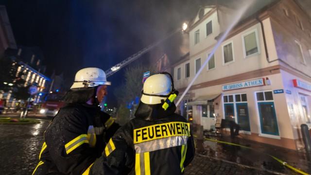 Großfeuer in der Altstadt von Dannenberg