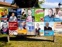 Wahlplakate Landtagswahl 2018