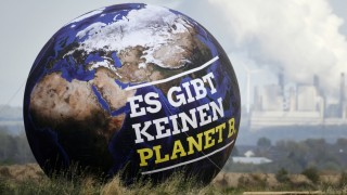 Klimawandel - Protest-Aktion gegen die Erderwärmung