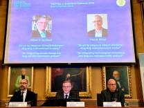 Die Verkündung des Wirtschaftsnobelpreis 2018 in Stockholm