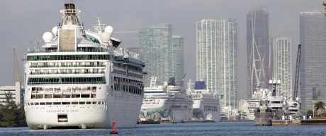 Cruise ship Grandeur of the Seas in the Port of Miami