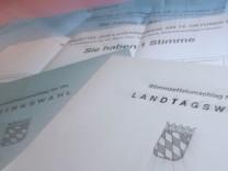 Bayern: Briefwahlunterlagen zur Landtags- und Bezirkstagswahl