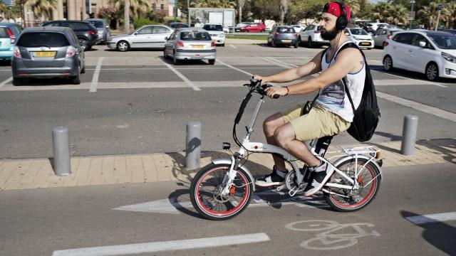 Fahrrad Radfahren in Tel Aviv