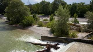 Umwelt und Naturschutz in Bayern Niedriger Flusspegel