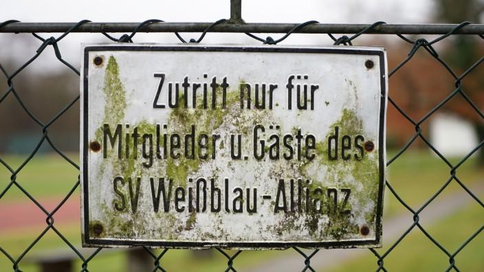Das Sportgelände von SV Weißblau-Allianz in München.