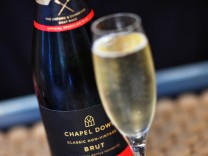 Chapel Down sparkling wine is seen at Chapel Down Winery in Tenterden