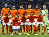 Top Row L R Virgil van Dijk of Holland Daley Blind of Holland Davy Propper of Holland Matthijs