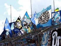 1860 Fanblock Fussball Grünwalderstadion DFB Pokal 13 08 2017 TSV 1860 München FC Ingolst; Fußball