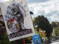 Landkreis München, Wahlplakate zur Landtagswahl,