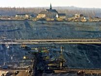 Kohle-Tagebau in Sachsen