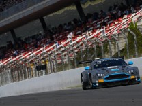 R Motorsport Aston Martin V12 Vantage with drivers Dominik Baumann Marvin Kirchhofer & Maxime Mart