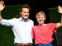 Wahlkampfhöhepunkt Gruene Bayern Kundgebung Wahlkampfhoehepunkt der bayerischen Grünen mit den Spitz