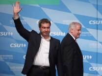 Landtagswahl Bayern: Markus Söder und Horst Seehofer beim CSU-Wahlkampfabschluss