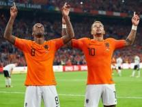 Netherlands Germany Soccer Amsterdam October 13 2018 Georginio WIJNALDUM NL 8 shoot goal for 3