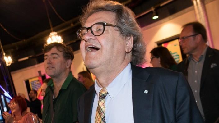 FDP-Kandidat Helmut Markwort am Abend der Landtagswahl.
