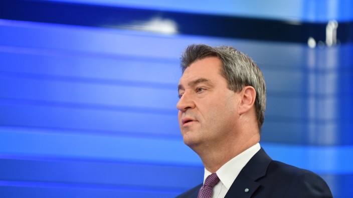 Landtagswahl Bayern - Söder beim ZDF