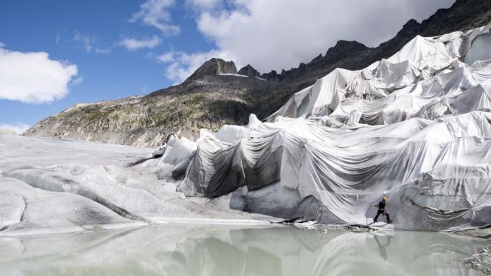 Rhonegletscher in den Alpen
