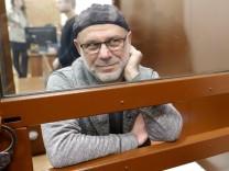 MOSCOW RUSSIA APRIL 18 2018 Former general producer of Sedmaya Studiya former director of Gogo