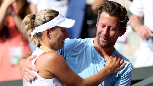 Angelique Kerber und ihr Trainer Wim Fissette