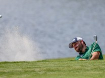 GREENSBORO NC AUGUST 17 Stephan Jaeger hits from the trap on the 15th green during the second ro; Stephan Jäger Golf