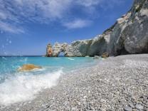 Lalaria Strand beach Skiathos Griechenland Greece Pebbles Steine