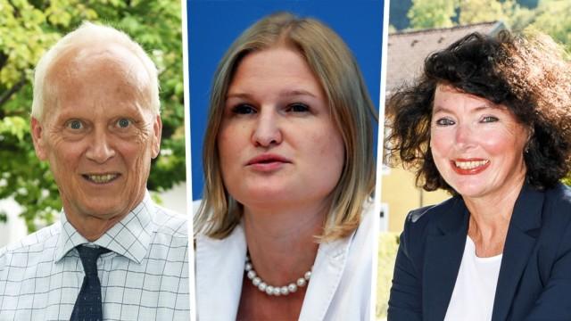 Die neuen AfD-Abgeordneten im bayerischen Landtag Uli Henkel, Katrin Ebner-Steiner und Anne Cyron.