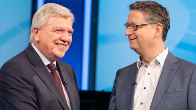 Hessen - TV-Duell zwischen Volker Bouffier und Thorsten Schäfer-Gümbel