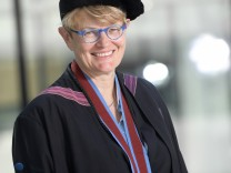 Professor dr Susanne Baer of the Bundesverfassungsgericht pictured after a ceremony for the Doctors