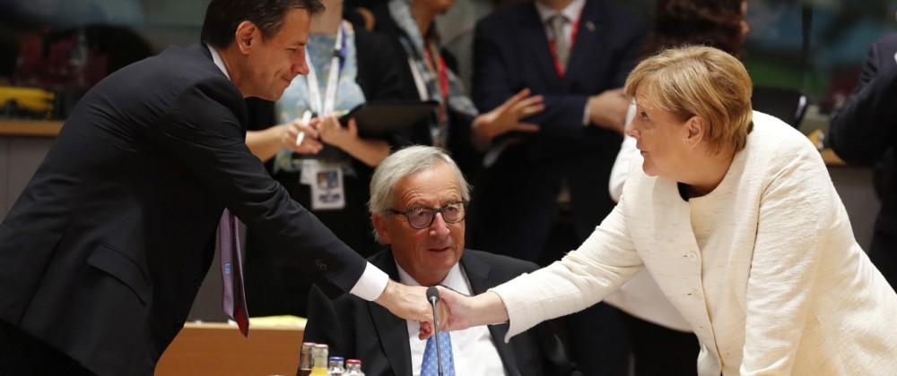 EU Gipfel Italien Schulden Conte Merkel