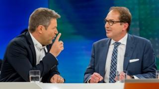"""Robert Habeck und Alexander Dobrindt bei """"Maybrit Illner"""""""
