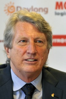 Legendary high jumper inventor of flop and Olympic champion from 1968 Richard Fosbury is seen at t