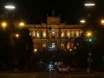 Landtag bei Nacht