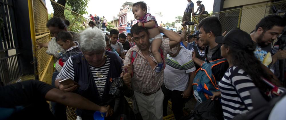 Flüchtlinge aus Honduras auf dem Weg nach Mexiko