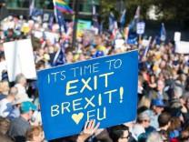 Demonstration für ein zweites Brexit-Referendum