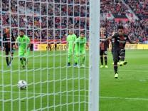 Bayer 04 Leverkusen Hannover 96 20 10 2018 Wendell LEV verschießt Elfmeter DFL REGULATIONS PR