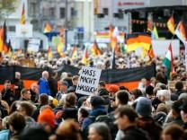 Pegida-Jahrestag in Dresden