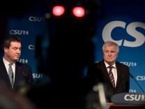 Nach der Landtagswahl in Bayern - CSU