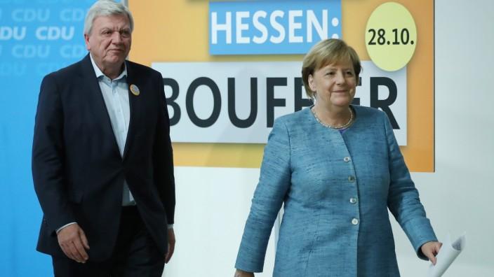 Angela Merkel und Volker Bouffier in Berlin