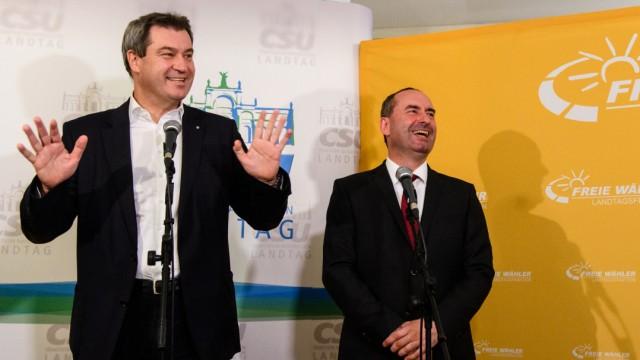 Koalitionsverhandlung von CSU und Freien Wählern