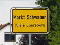 Ortsschild Gemeinde Markt Schwaben