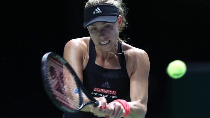 Angelique Kerber beim WTA-Finale 2018 in Singapur