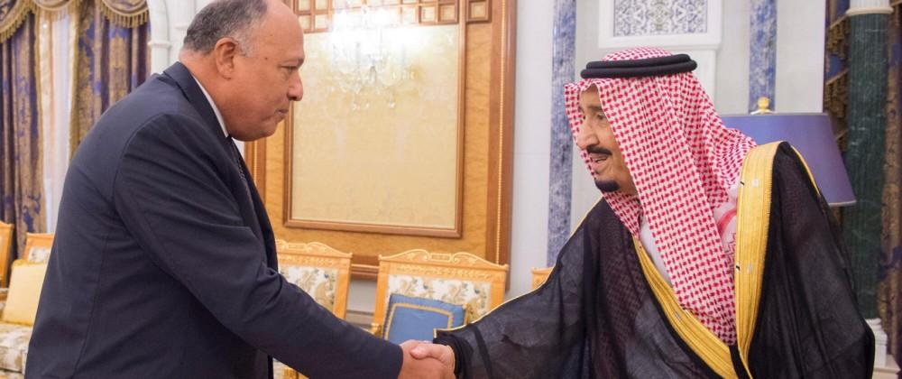 Außenminister von Ägypten Schukri in Riad
