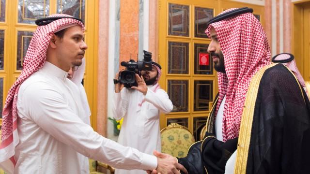 Saudi Crown Prince Mohammed bin Salman meets with Khashoggi family in Riyadh